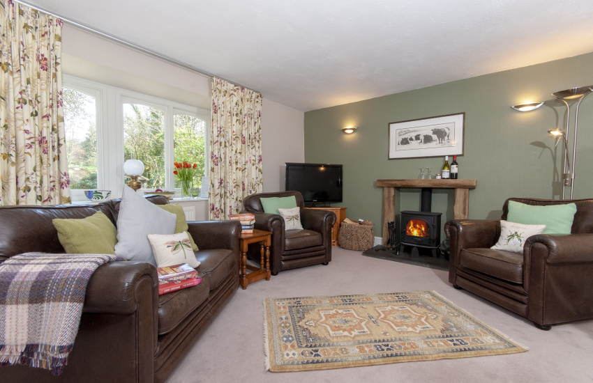 North Pembrokeshire cottage (Visit Wales 5*) near Abermawr - sitting room with wood burning stove