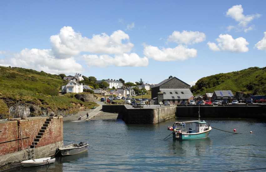 Porthgain Harbour has two art galleries