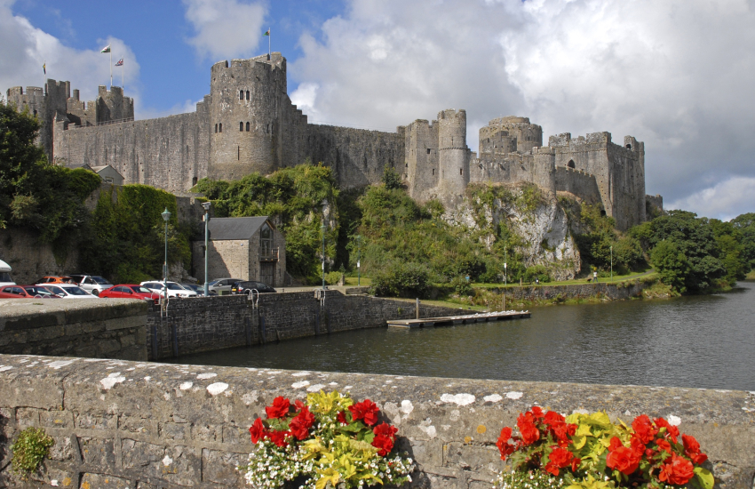 Pembroke Castle re-enactment days, falconry displays and music festivals