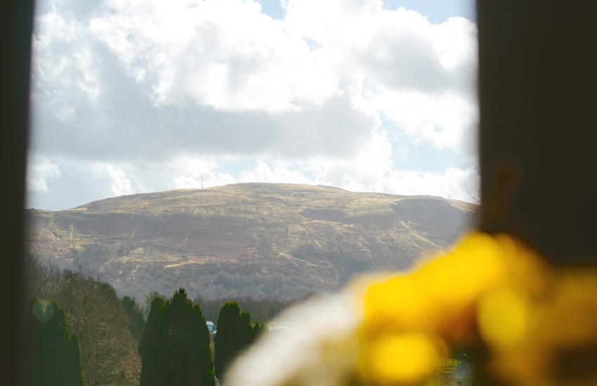 Views of Brecon Beacons from double bedroom