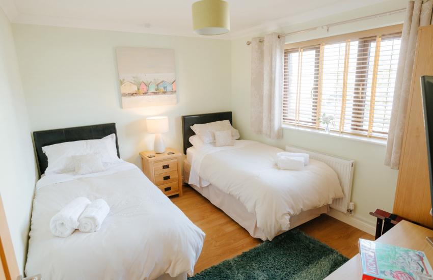 Modern luxury house twin bedroom