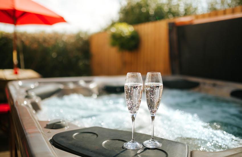 Luxury hot tub on holiday
