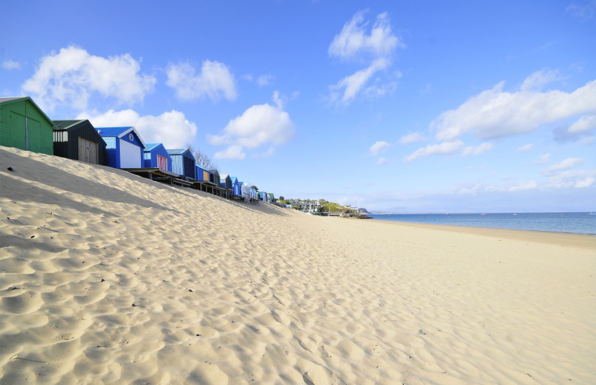 Abersoch with its beach huts is a great place to spend the day
