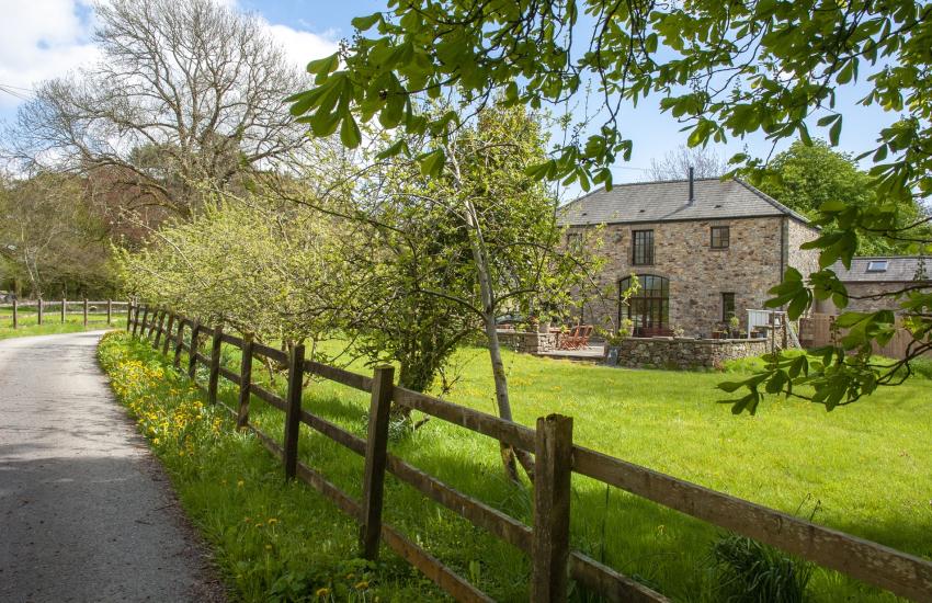 Cae Forgan driveway through the gardens