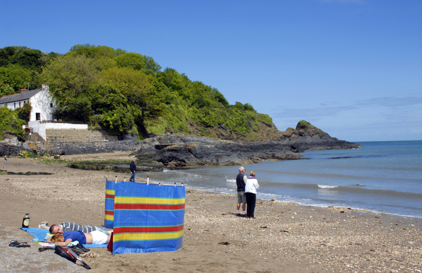 Cwm yr Eglwys is a tiny sheltered cove on the Pembrokeshire Coast Path