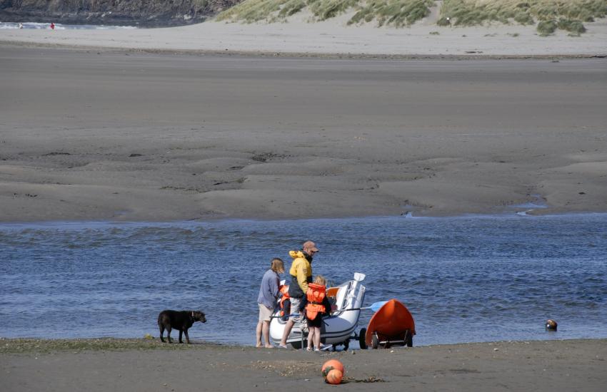 Newport sands and the Parrog