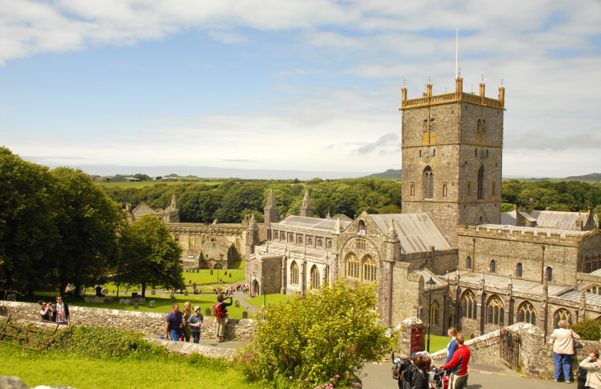St Davids medieval Cathedral and the ruined Bishops Palace