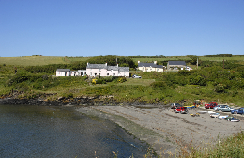 Abercastle is a sheltered little cove