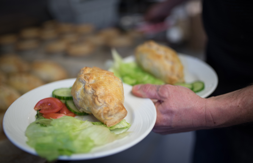 Freshly baked pasties from the bakery in Aberdaron