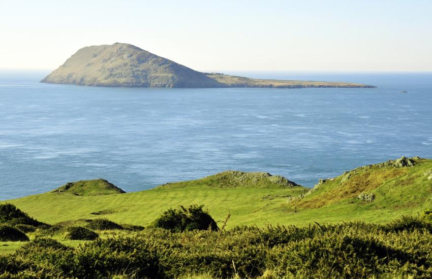 Bardsey Island from Uwchmynydd - take a day trip from Aberdaron