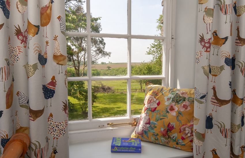 Lovely rural views from the family bedroom