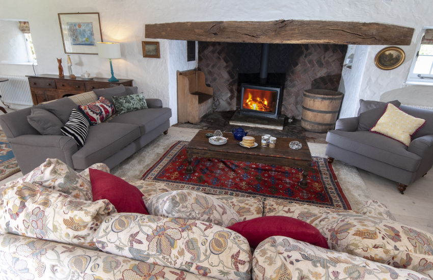 18th Century country residence with large inglenook and wood burning stove