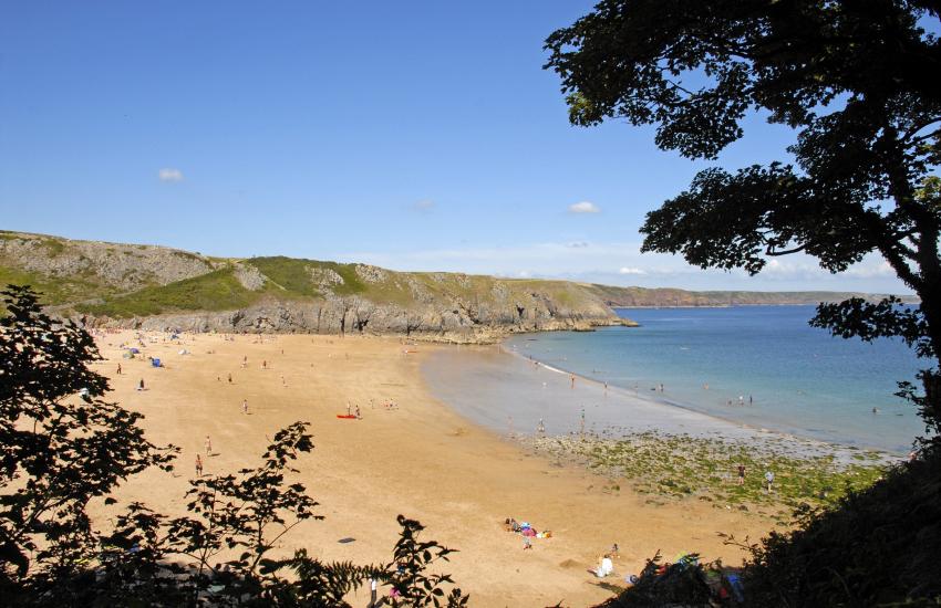 Barafundle - a beautiful golden sandy beach