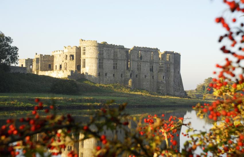 Carew Castle, once a grand Elizabethan mansion