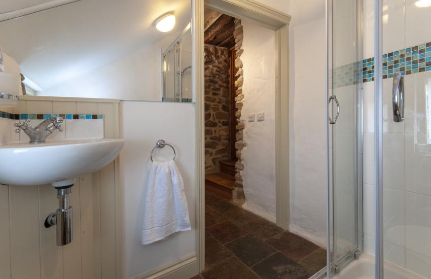 Solva holiday home - single en-suite shower