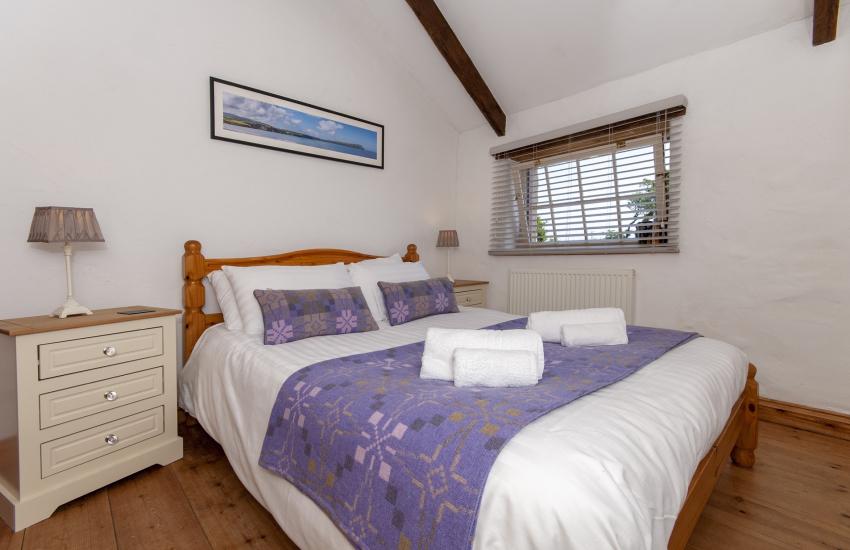 Solva barn conversion sleeps 9 - double bedroom