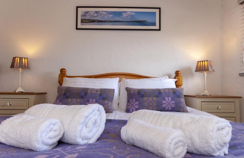 Luxury Solva barn with Melin Tregwynt soft furnishings