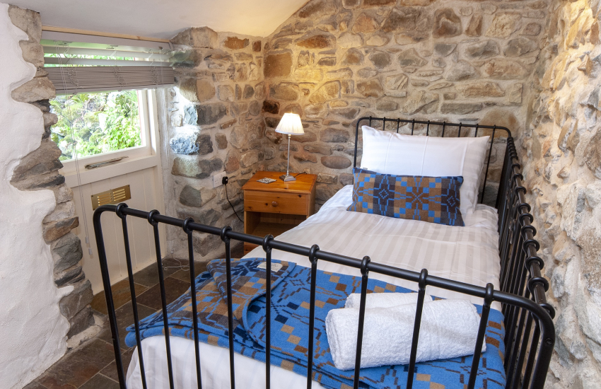 Pembrokeshire holiday barn sleeps 9 - single bedroom with ensuite shower