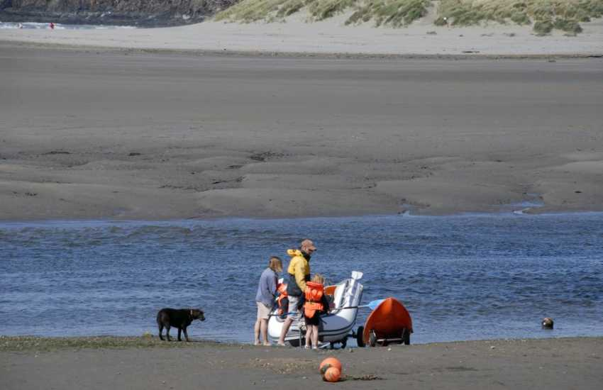 Newport sands and the Parrog are popular for indulging in all kinds of water-sports