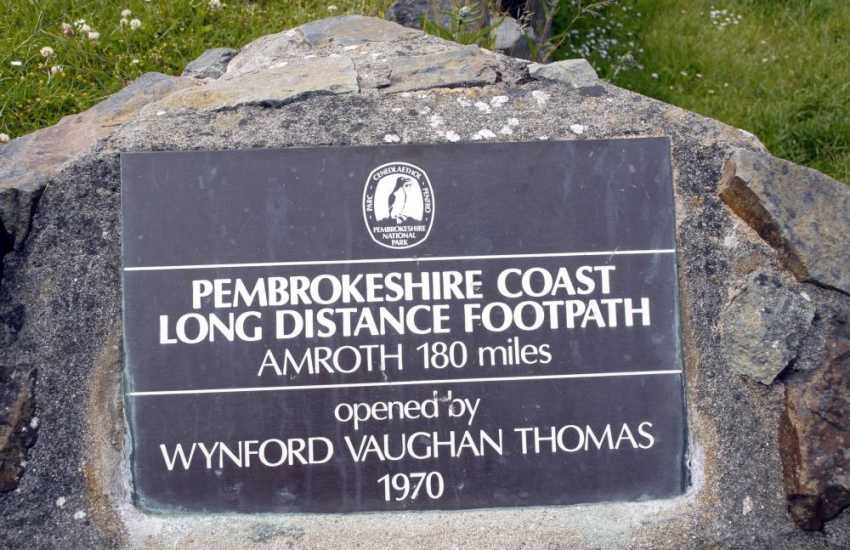 The stunning Pembrokeshire Coast Path  opened by Wynford Vaughan Davies in 1970 was voted second best coastal destination in the world by National Geographic Magazine