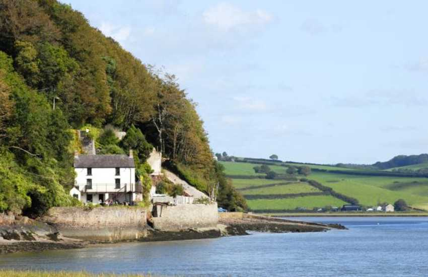 Dylan Thomas' Boat House, Laugharne on the banks of the beautiful Taf Estuary - much of his work was written here and stands as he left it
