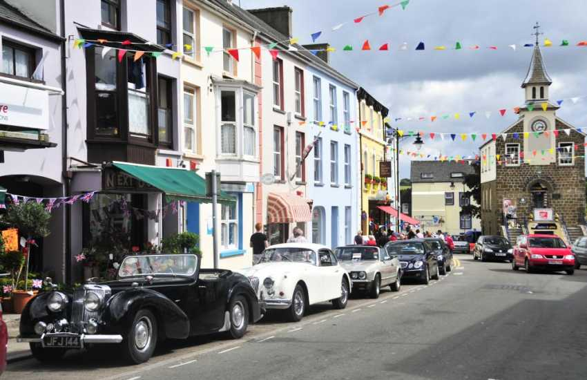 The colourful market town of Narberth is full of character