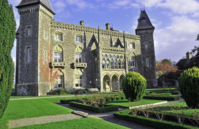 Newton House (N.T.) situated with Dinefwr Deer Park & Castle, Llandeilo. The 17th Century Manor house is set within magnificent landscaped parkland - well worth a visit!