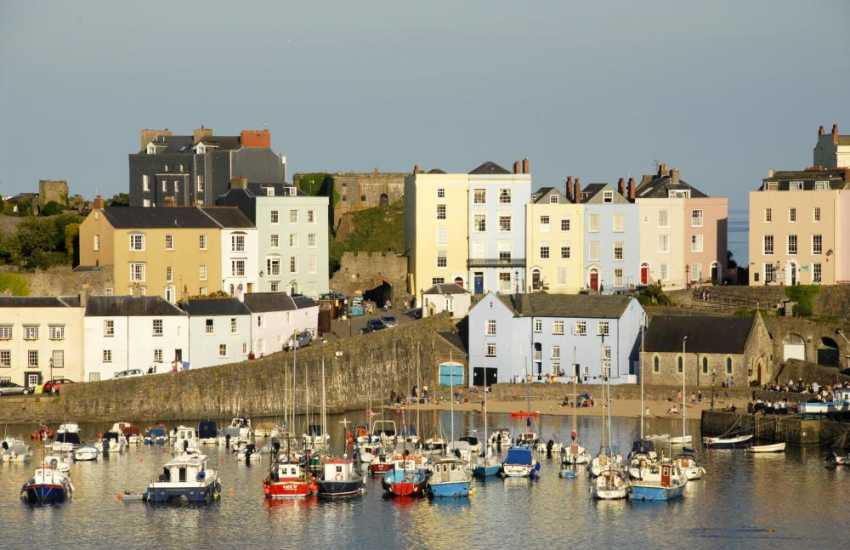 The popular seaside resort of Tenby with it's picturesque harbour, individual shops, pubs, restaurants and 5 glorious beaches to choose from