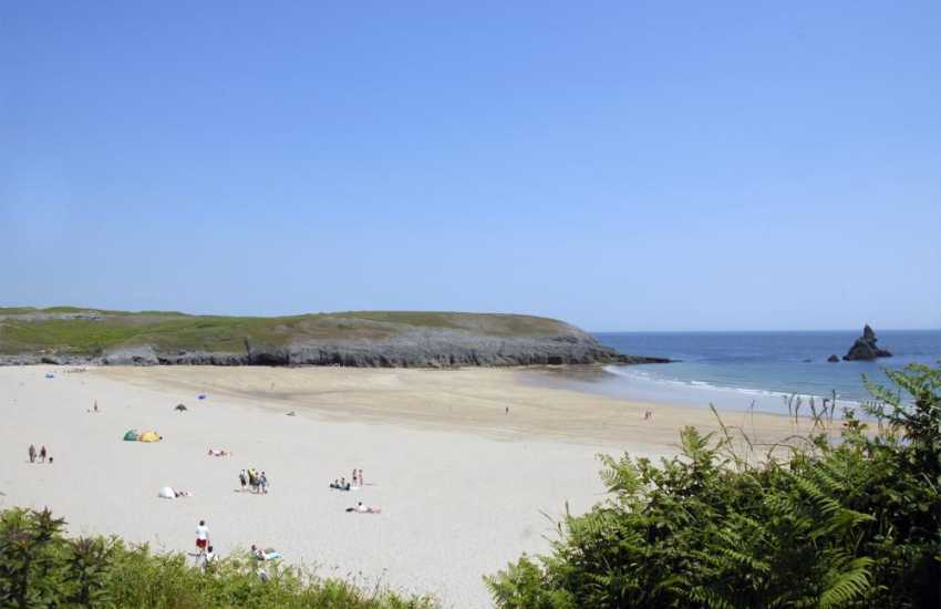 The golden sandy beach of Broad Haven South is only a short walk away around the Lily ponds, Bosherston