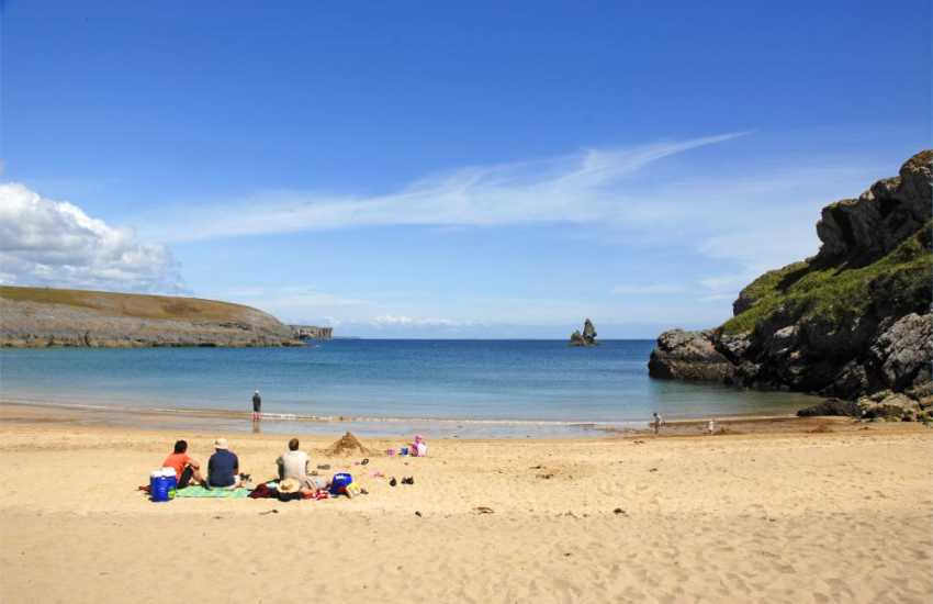 Broadhaven South (N.T.) - a superb sheltered sandy beach popular for swimming and surfing