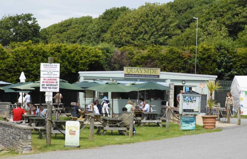 Enjoy delicious home made food at 'The Quayside' overlooking the river in Lawrenny