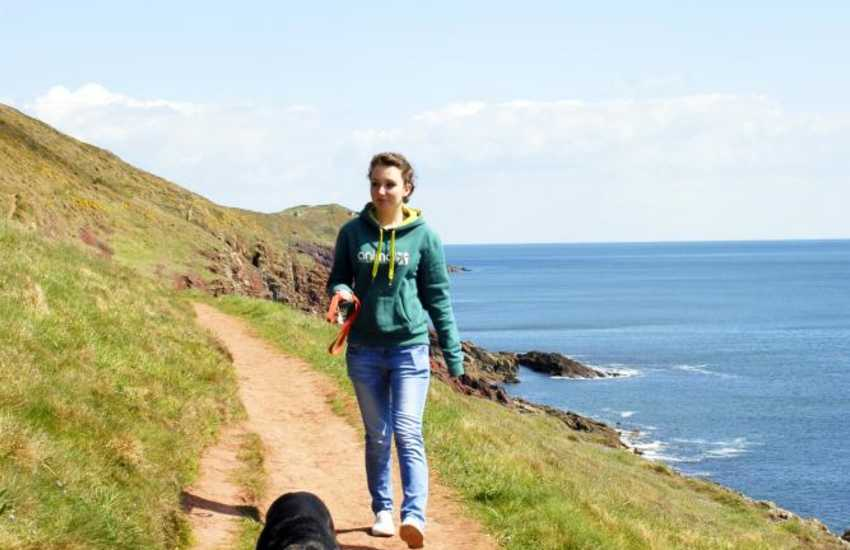 Enjoy wonderful cliff-top walking along The Pembrokeshire Coast Path