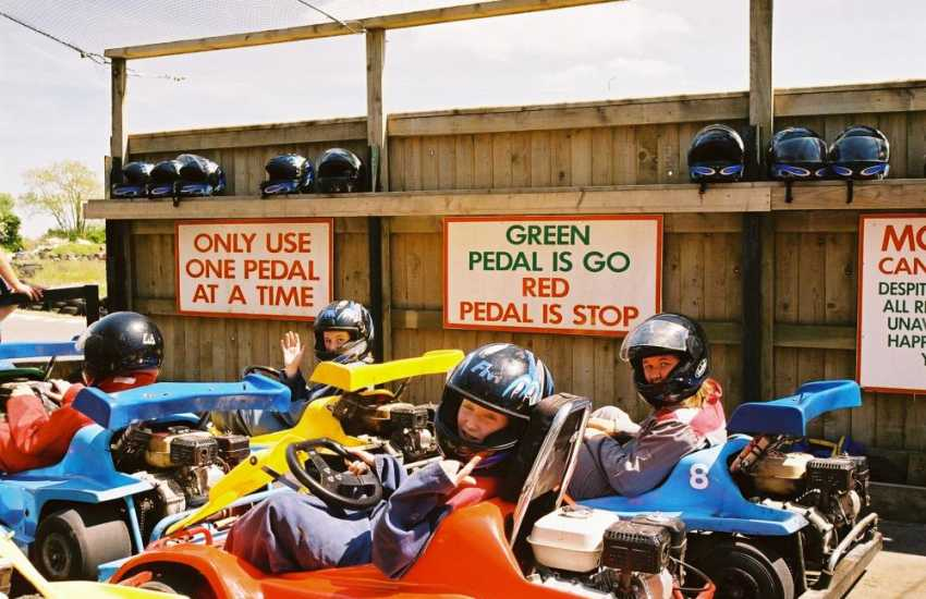 For an active family day out try go-karting at Heatherton Park near Tenby