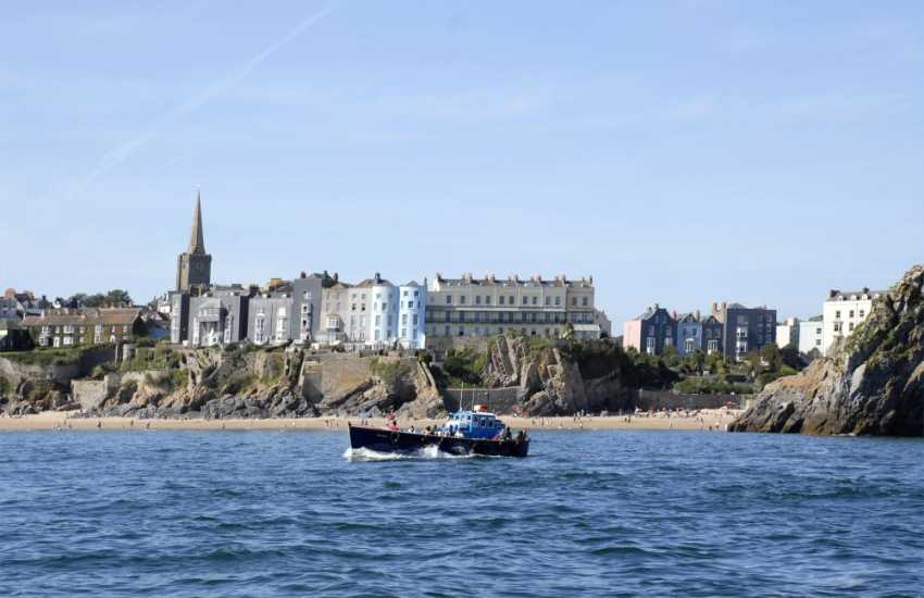 Enjoy the short boat ride over to Caldey Island from Tenby and spend a day 'back in time' on the ancient Island