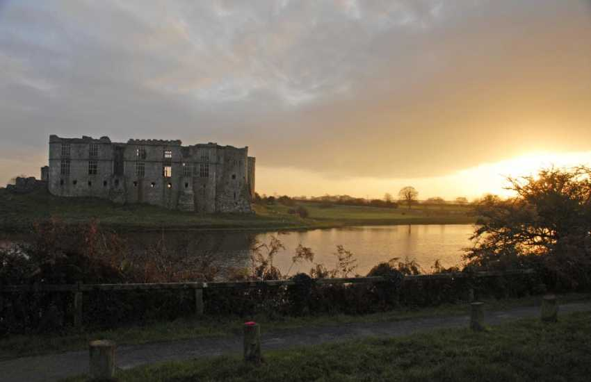 The magnificent, romantic ruins of Carew Castle along with a 19th Century working tidal mill overlooking the millpond is well worth a visit and just a short drive away
