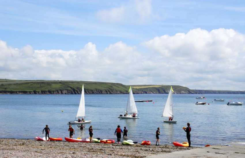 Dale - one of the most popular sailing centres in Pembrokeshire with a wide variety  of water-sports to choose from