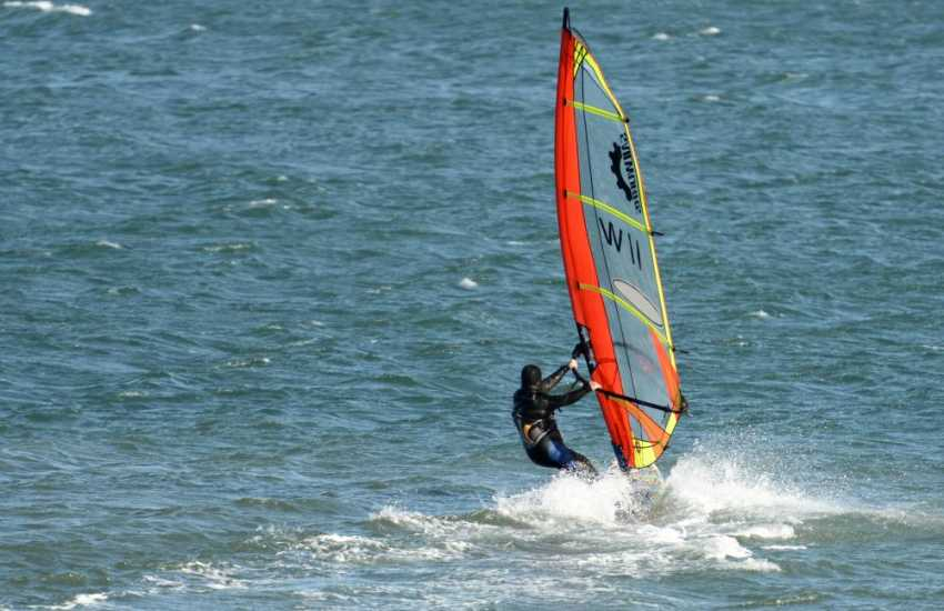 A wide variety of water sports locally including windsurfing