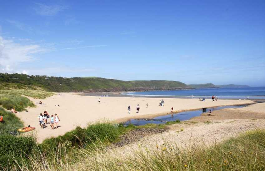 Freshwater East on the South Pembrokeshire coast is just one of many golden, sandy beaches to choose from