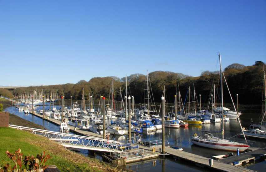 Visit The Brunel Cafe which overlooks the yachts moored in nearby Neyland Marina