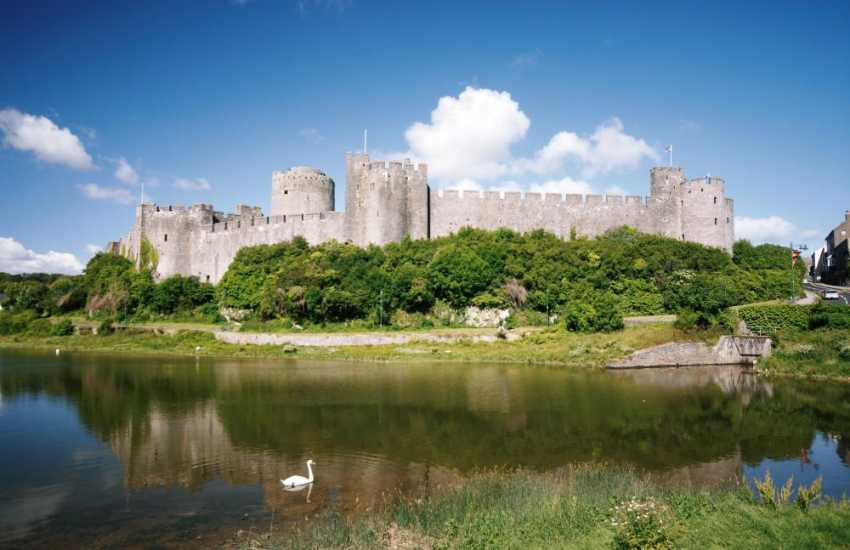 Magnificent Pembroke Castle set within the town itself - do take time to visit it!