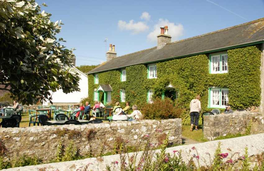 Ye Olde Worlde Tea Room in Bosherston - enjoy refreshments on the lawn from the menu which has remained the same for over 50 years!