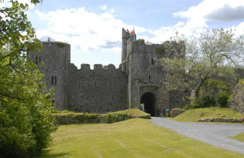 Romantic 12th century Manorbier Castle - lovely grounds for a picnic within the old walls