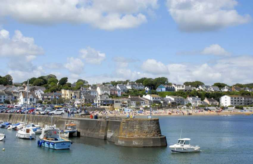 Saundersfoot's pretty harbour village has a variety of interesting little shops, restaurants, pubs, cafes and three glorious beaches