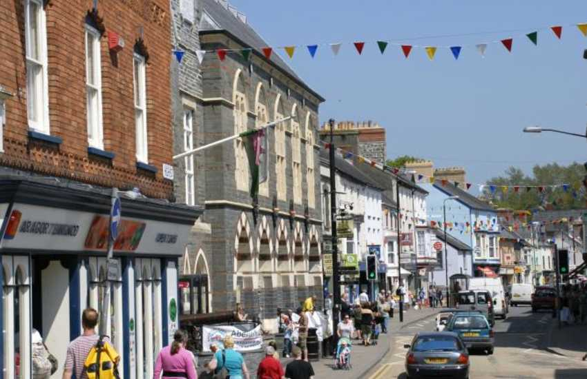 Cardigan county town has an indoor market, theatre, cinema, heritage centre, and a variety of individual shops to choose from