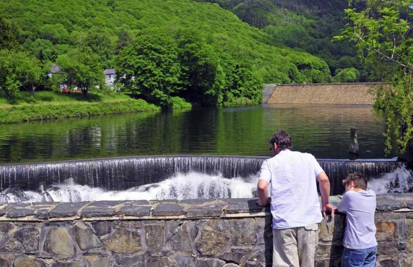 Rheidol Reservoir in the peaceful Rheidol valley