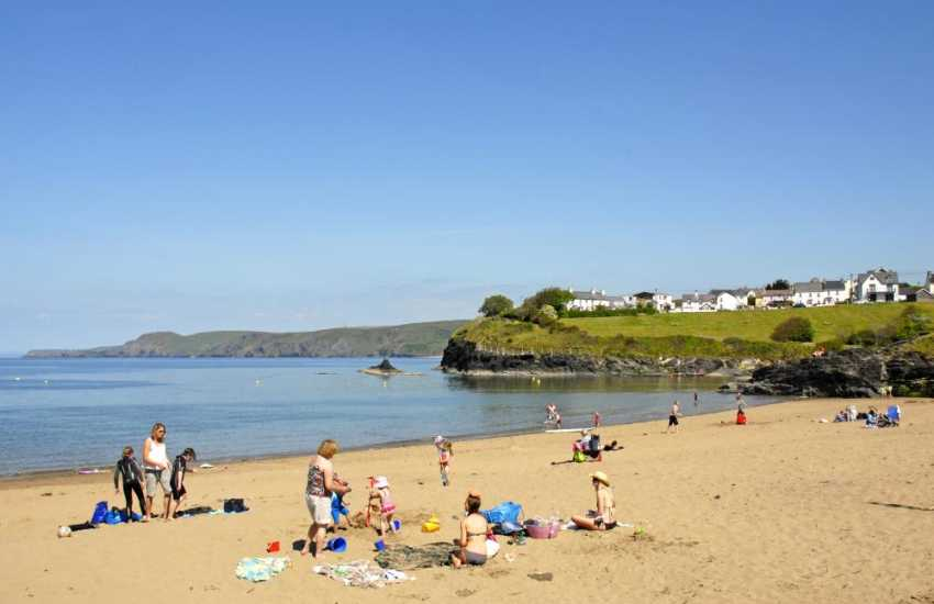 One of two golden sandy beaches at the village of Aberporth a short drive away