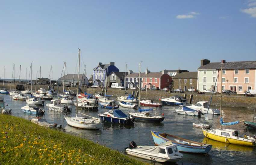 Picturesque Aberaeron harbour
