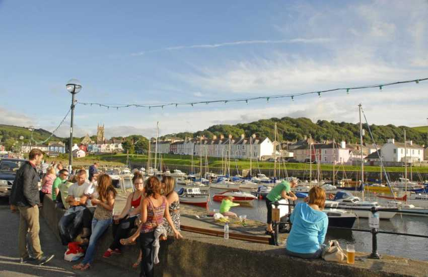 Relax and enjoy the evening sun down on the harbour wall or have a drink in the award winning Harbourmaster Hotel