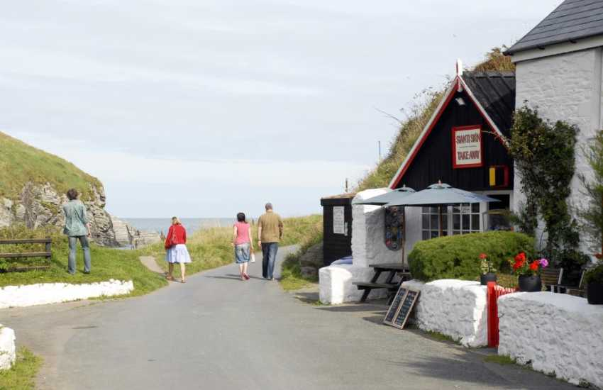 Enjoy delicious home made food from the take-away on the Beach at Cwm Tydu