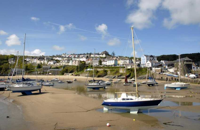 New Quay - a bustling, vibrant seaside town with 3 Blue Flag beaches and a wide variety of water sports just a short drive south along the coast